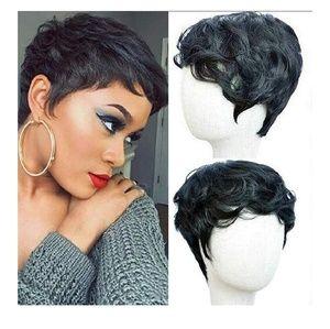 Black Beautiful Pixie Cut Wig
